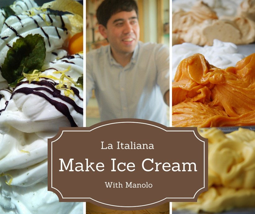 Make Ice Cream with Manolo - La Italiana Cafe Almunecar Spain