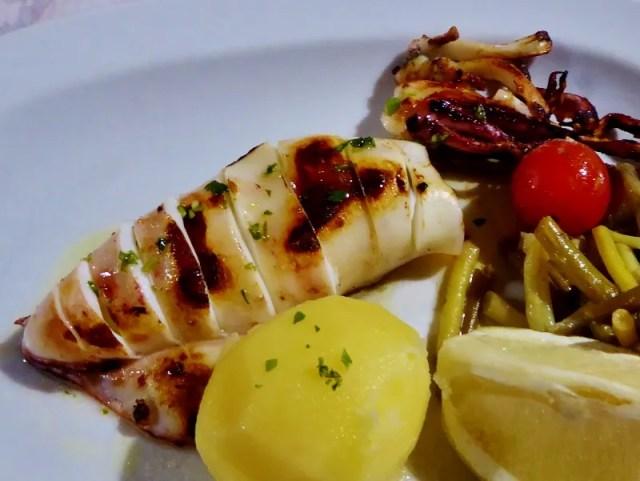 Favorite Almuencar restaurants - Restaurante Boto's grilled squid