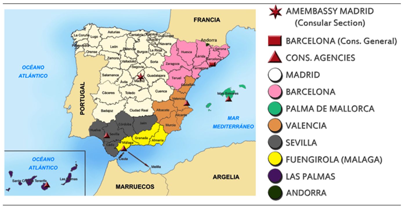 How To Renew Your US Passport In Southern Spain Almuñécar Info - Us embassy niger map