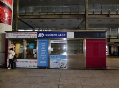 Malaga Airport Alsa ticket booth