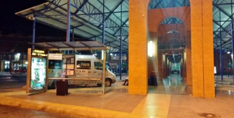 Malaga central bus station - Bus A to Malaga aiport at platform 32