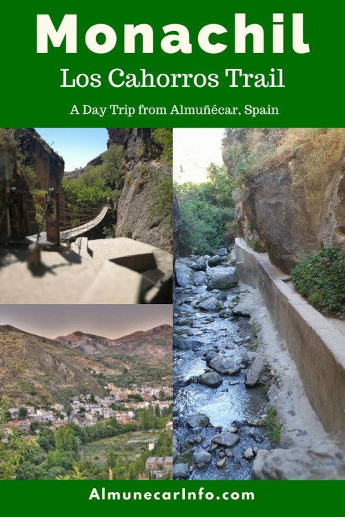 Escape to the Sierra Nevada on a day trip from Almuñécar to Monachil. A unique hiking experience via a narrow canyon, hanging bridges & the river. Read more on AlmunecarInfo.com