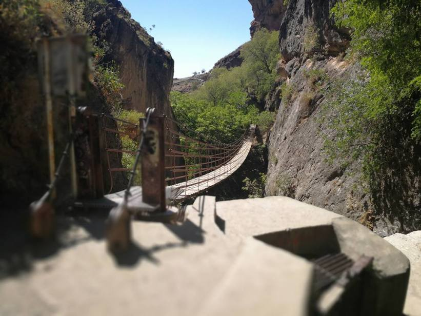 A Day Trip from Almuñécar to Monachil, Los Cahorros Trail Don't worry, many families with kids go on this trail and while the hanging bridges might be a bit scary with some boards missing, they are safe and inspected.