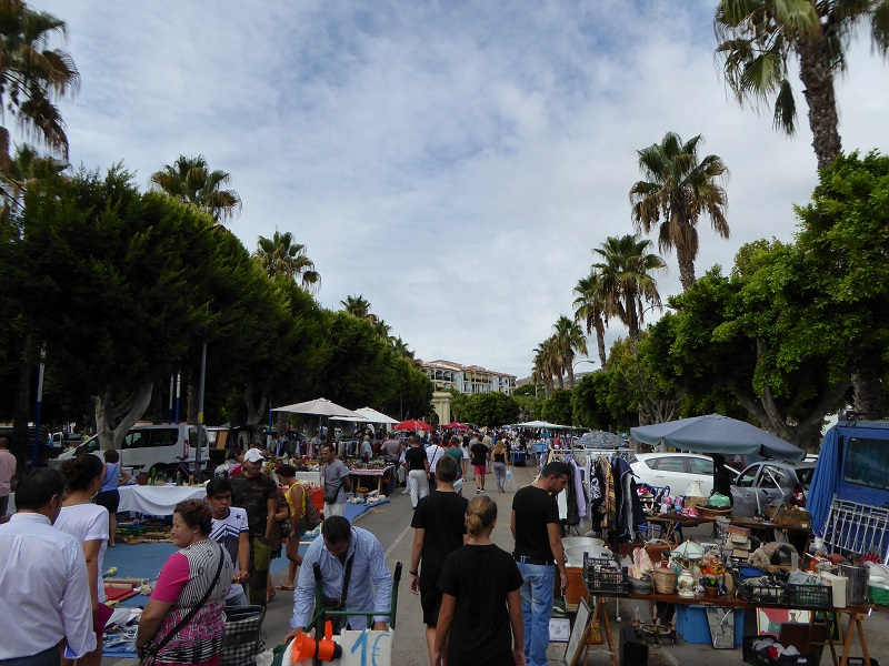 Almunecar markets - The Sunday Market is where you can buy many second hand items and antiques at the Sunday market, located across from McDonald's. Sunday 09:00 - 14:00