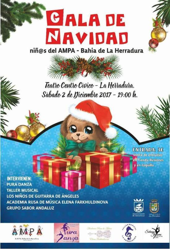 7 pm in the auditorium of the Herradureño Civic Center. The Association of parents of the Las Gaviotas de La Herradura Public School celebrates this Saturday, at the auditorium of the Herradureño Civic Center, at 7 pm, the Christmas Gala.  Advance tickets can be purchased at the Illusions shop or at the box office before the show.