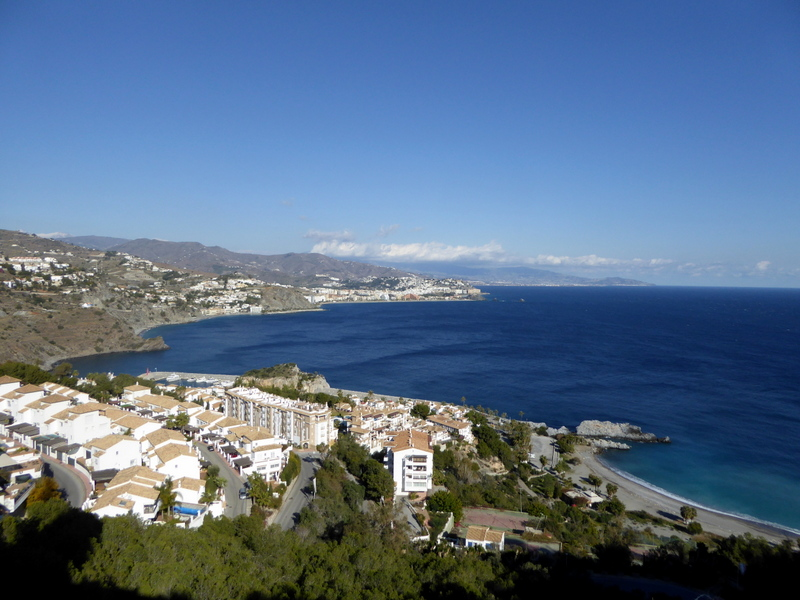 Spectacular views of Almunecar from the Faro de La Herradura - La Herradura lighthouse on Punta de la Mona.