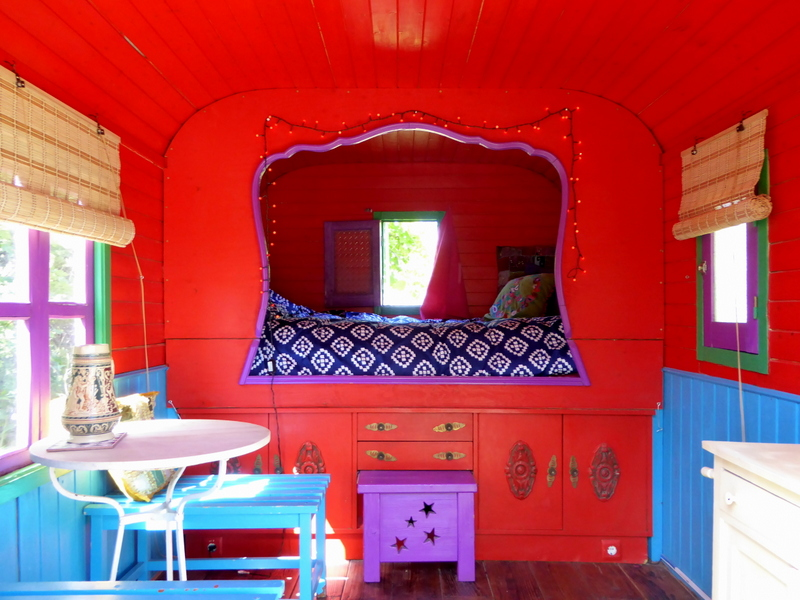 Glamping in Spain at the Nomad Xperience - gypsy wagon glamping in Spain
