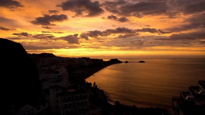 Almunecar Sunrise San Cristobal Beach October 25- 2012