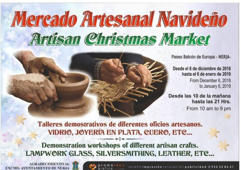 December 6 - January 6 -  Nerja Artisan Christmas Market