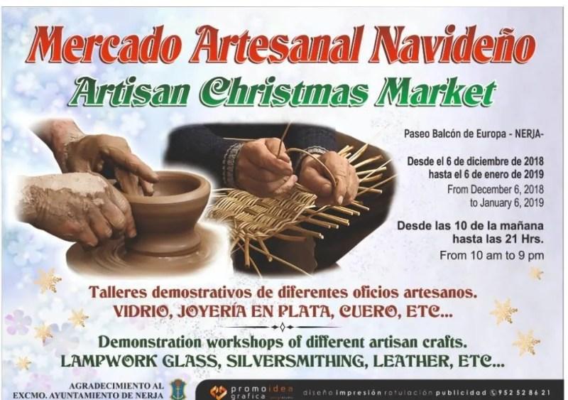 December 6 - January 6 - Nerja Artisan Christmas Market