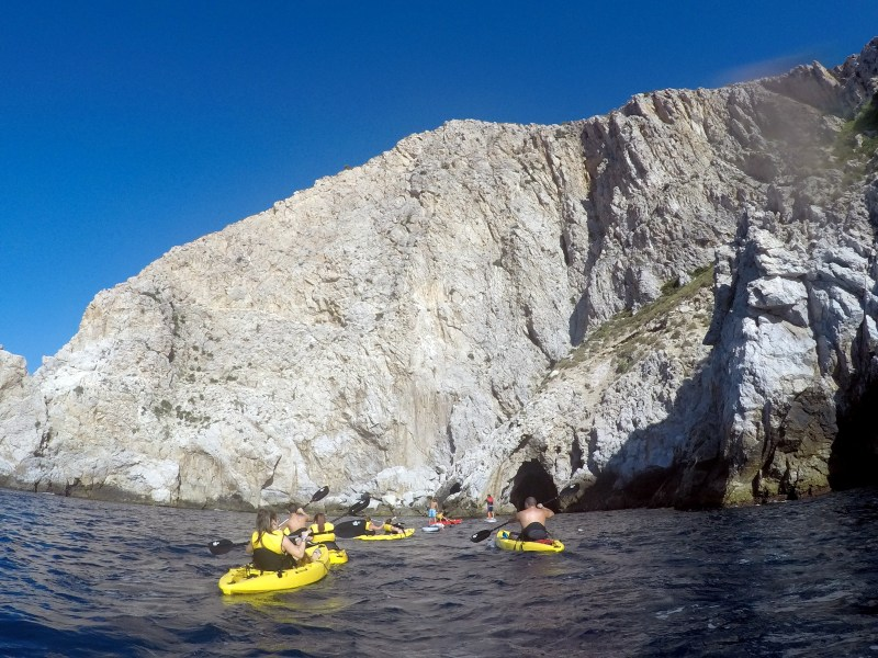 La HerraduraKayak Tours & SUP Tours! Glide along the beautiful blue sea, below the high cliffs and vegetation. Discover hidden caves and waterfalls, stop for a snorkel and swim or even a picnic!