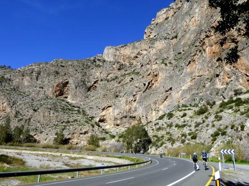 cycling Cañón del rio Guadalfeo