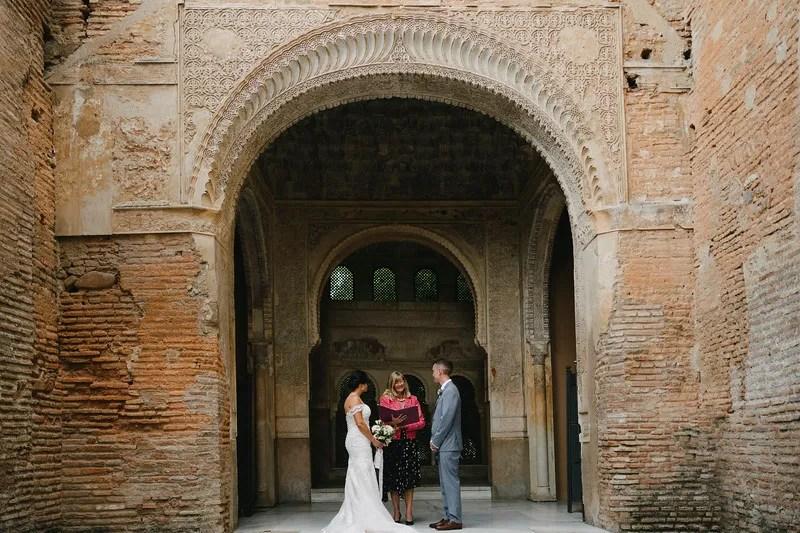 Wedding at Parador de Granada Spain. Read more on Almunecarinfo.com