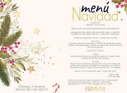 Restaurante FIRMVM Christmas menu read more on Almunecarinfo.com