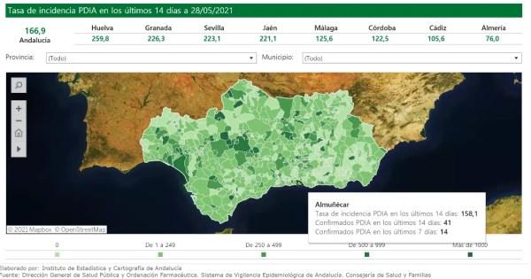 Almunecar covid map 2021-05-27