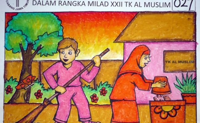 Menggambar Poster Tema Kebersihan Lingkungan Miegames