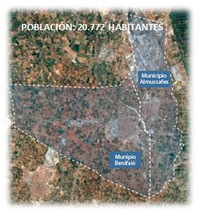 Habitants municipi d'Almussafes i municipi de Benifaió