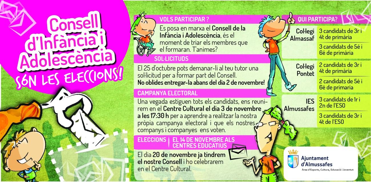 Informació eleccions Consell Municipal d'Infància i Adolescència