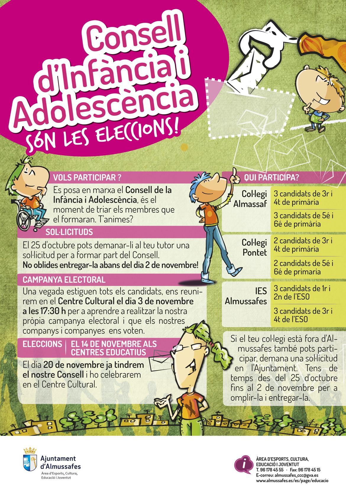 Cartell eleccions Consell Municipal d'Infància i Adolescència