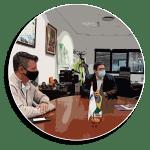 L'alcalde d'Almussafes visita l'empresa Transfesa Logistics, situada en el Polígon Industrial Joan C...