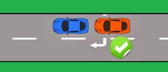 المسافة المطلوبة لتجاوز مركبة أخرى