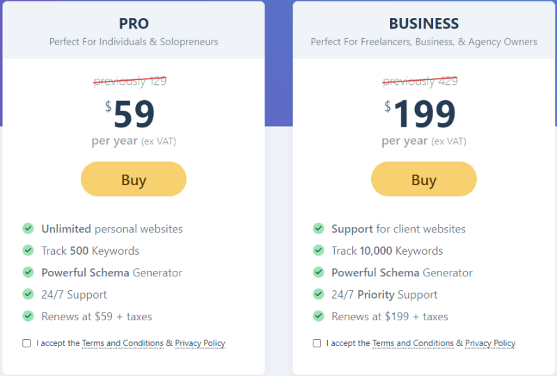 Simple Pricing Plans