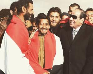الرئيس السيسي في إستقبال المواطنين المصريين الذين تمت إعادتهم من ليبيا