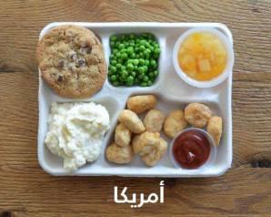 بالصور شاهد وجبات الأطفال فى المدارس حول العالم