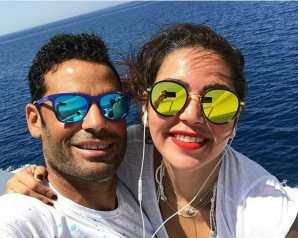 الفنانة لقاء الخميسى تحتفل بعيد ميلاد زوجها اللاعب محمد عبد المنصف