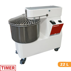 SPIRAL KNEADER 22 LITERS, TIMER, ON WHEELS