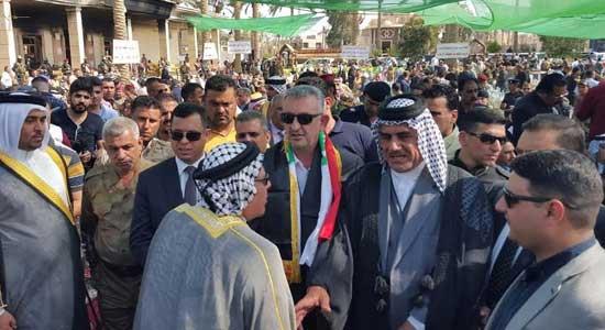 محافظ الانبار خلال استقباله وفداً من عشائر جنوب العراق: مقاتلي حشد الانبار اصبحوا اشداء