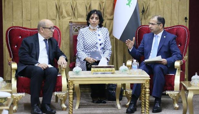 رئيس البرلمان ووزير الدفاع الفرنسي يبحثان التعاون والتنسيق لمكافحة الارهاب