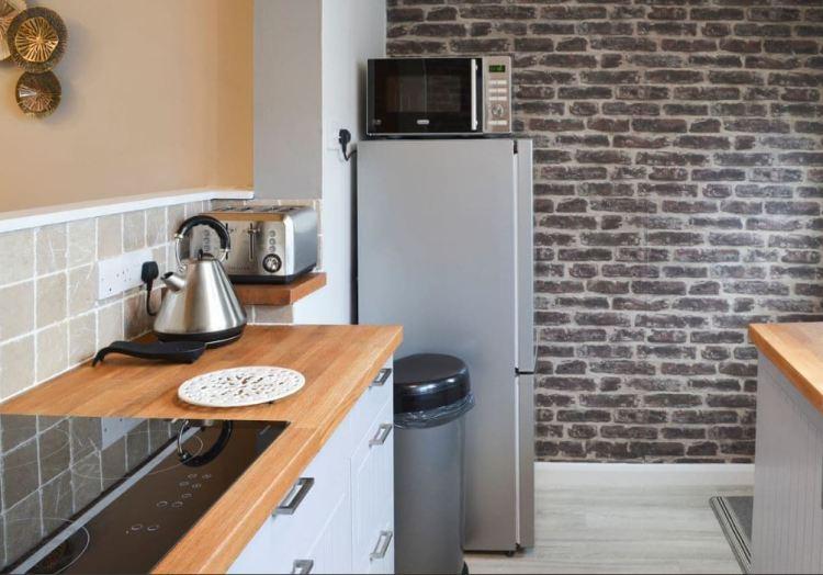 Split level kitchen