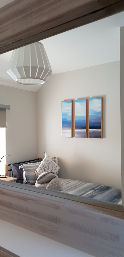 Beach theme holiday cottage bedroom