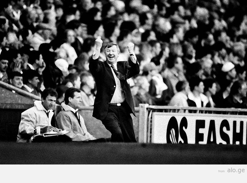 12/04/1997.  Premiership Football, Blackburn v Manchester Utd, Blackburn, Britain.