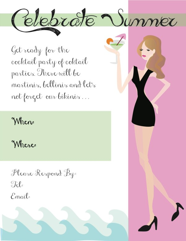 Ladies Night Out Invitation Clip Art