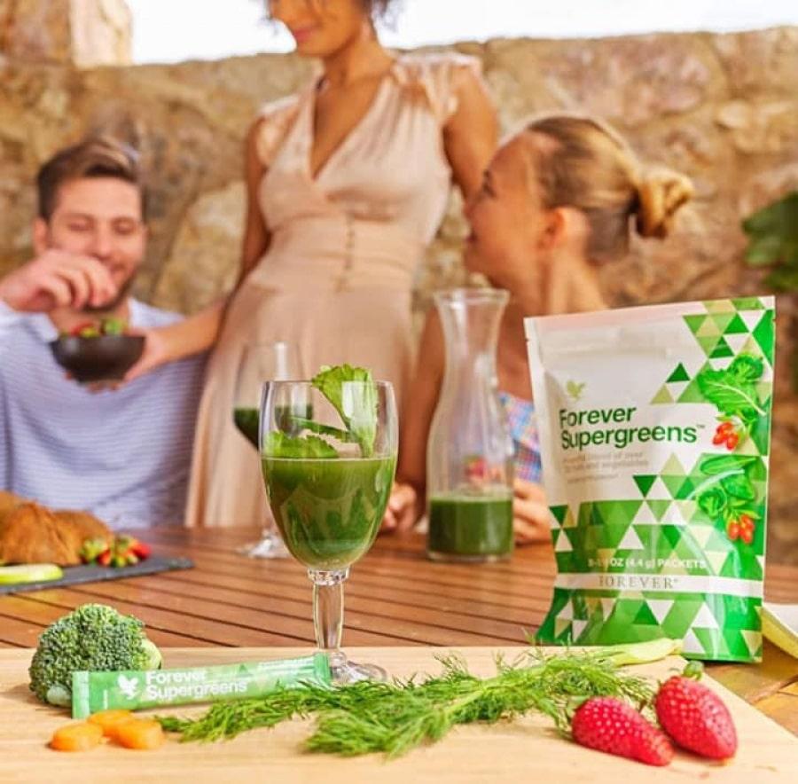 forever supergreens, ingredients forever supergreens, utilisation forever living supergreens, acheter forever supergreens