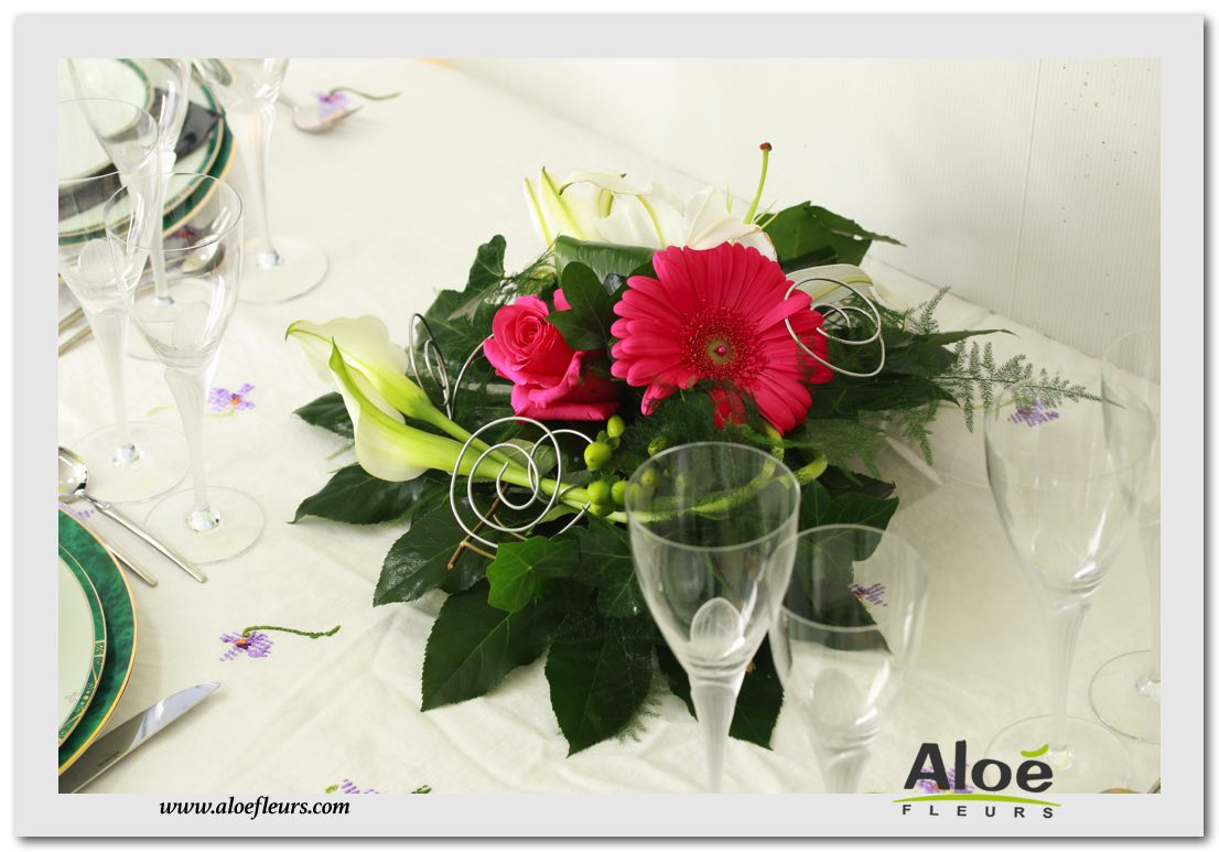 Fleurs Pour Decoration De Table Centre De Table Fleur Immerge
