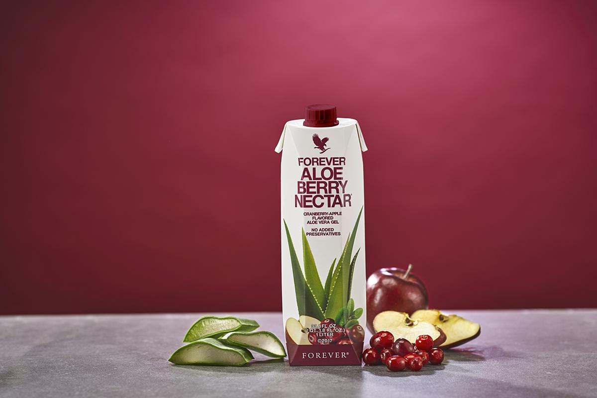 pulpe d'aloe vera et cramberry