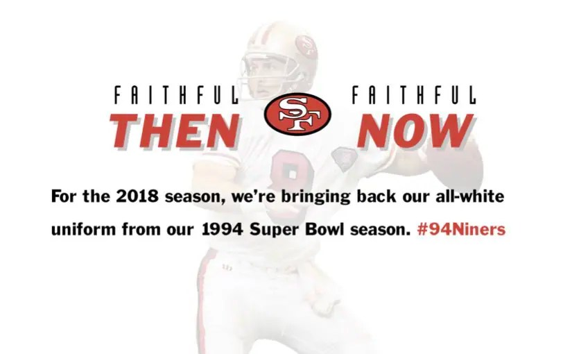 49ers 2018 uniform