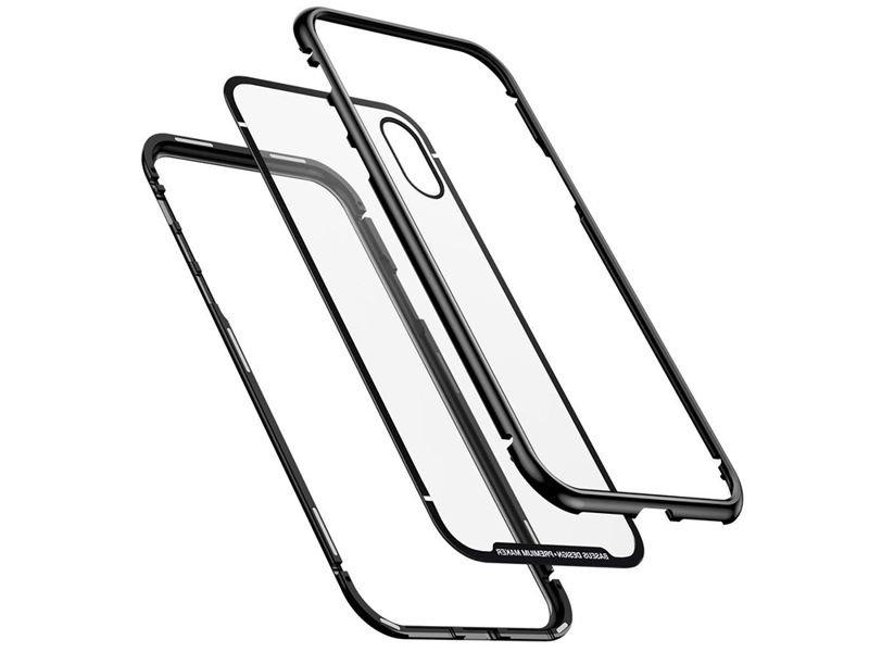 Etui Baseus magnetic case szklane iPhone X/Xs + szkło