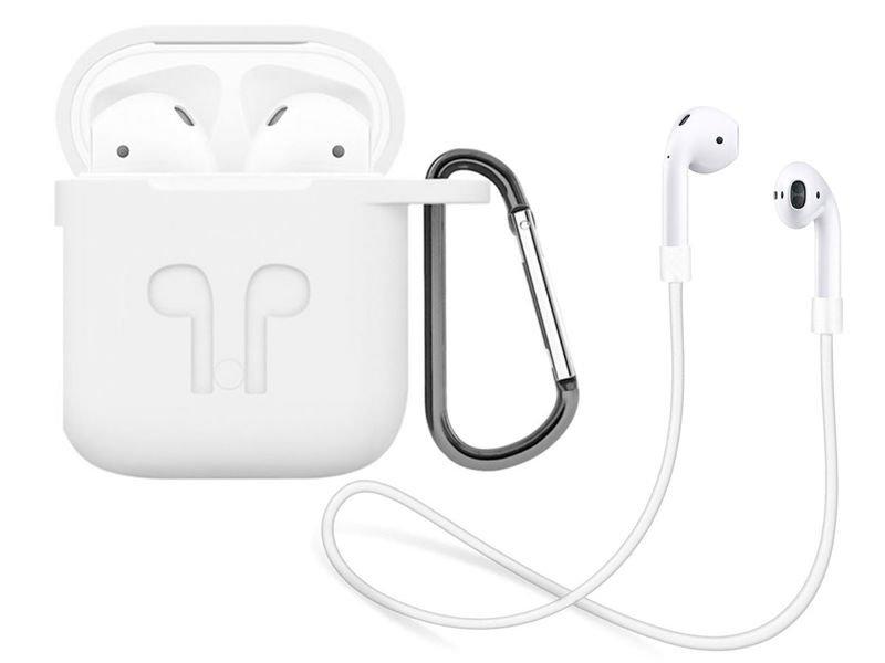 Silikonowe etui + pasek strap opaska do Apple AirPods