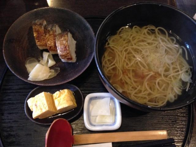 神楽坂ランチ(九頭龍蕎麦)さば寿司