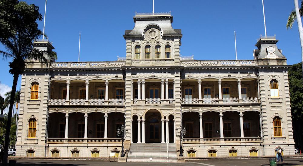 ハワイのイオラニ宮殿