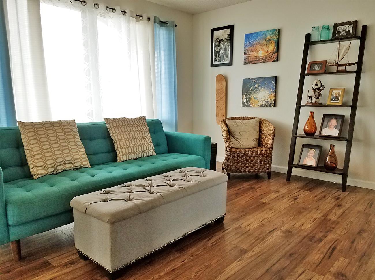 Beachy Post Modern Living Room Tour Aloha Lovely