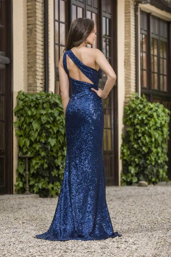 vestido fiesta azul marino