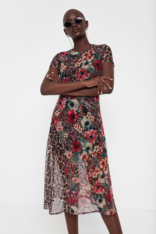 vestido print desigual aloha moda