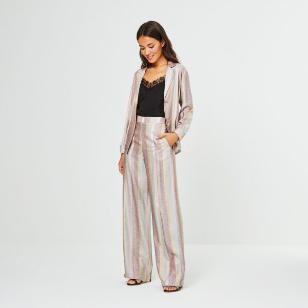 chaqueta lurex rosa