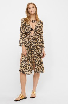 Kaftan abierto estampado animal print