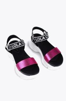 Sandalia deportiva metalizada lola casademunt